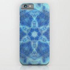 Wispy fairy kaleidoscope in blue iPhone 6s Slim Case