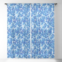 Forget-me-not Flowers White Background #decor #society6 #buyart Sheer Curtain