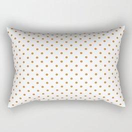 Dots (Bronze/White) Rectangular Pillow