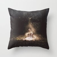 fairies Throw Pillows featuring Fairies by LauraWilliams95