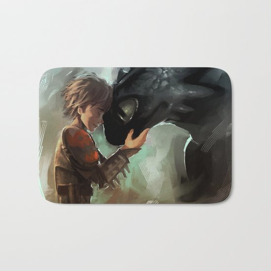 hiccup & toothless Bath Mat