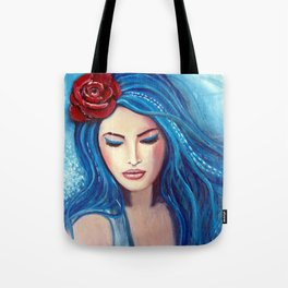 Blue Marmade Tote Bag