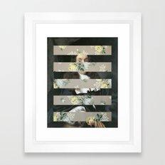 A Portrait With Bars 3 Framed Art Print