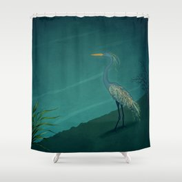 Camouflage: The Crane Shower Curtain