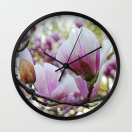 magnolia fantasia Wall Clock