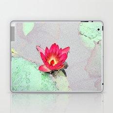 art style pretty pink waterlily flower  Laptop & iPad Skin