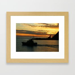 The End Of A Beautiful Day Framed Art Print