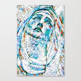 Glass stain mosaic 8 - Madonna, by Brian Vegas Canvas Print