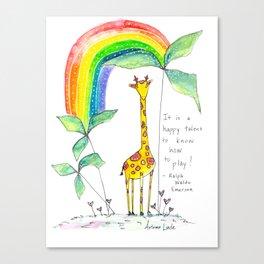 A Happy Talent Canvas Print