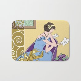 CLARICE: Art Deco Lady - Summer Romance Bath Mat