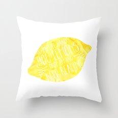 Life & Lemons Throw Pillow