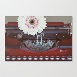 Message of Love Typewriter Canvas Print