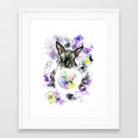 scarface Framed Art Prints featuring Daubie the fortune teller  by Psyca