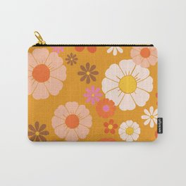 Groovy Mod 60's Flower Power Carry-All Pouch