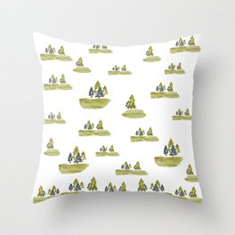 Varigated pine forest Throw Pillow