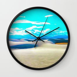 White Sands Wall Clock