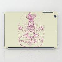 nirvana iPad Cases featuring Marshmallow nirvana by kami illustration