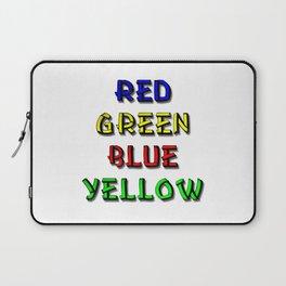 Red Green Blue Yellow Brain Teaser Laptop Sleeve
