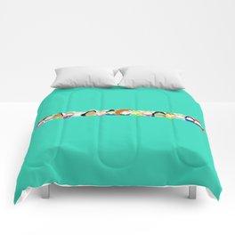 Pretty Princess Line Up Aqua Comforters