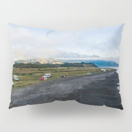 kaikoura ocean side camping mountains panorama scenic view new zealand Pillow Sham