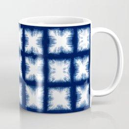 Indigo Shibori Granny Squares Coffee Mug
