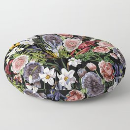 Vintage & Shabby Chic - Lush baroque flower pattern Floor Pillow