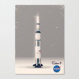 retro Apollo Saturn 5 poster Canvas Print