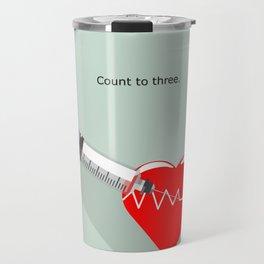 Shot to the heart - Pulp fiction Overdose Needle Scene needle for injection  Travel Mug
