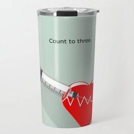 Shot to the heart - Pulp fiction Overdose Needle Scene needle for injection  Travel Mug