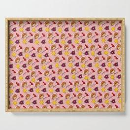 Hammy Pattern in Peach Pink Serving Tray