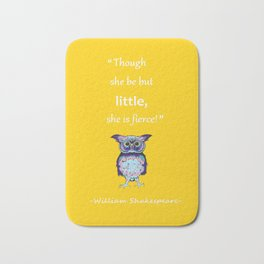 Inspirational Shakespeare Quote Bath Mat