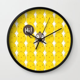 Chicks Being Different And Stay Cool Wall Clock