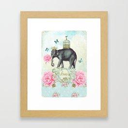 Paris Elephant Framed Art Print