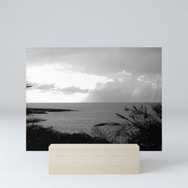 Black & White Beach Art Photogaph Mini Art Print