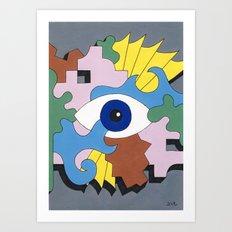 Patterned Eyes | The Right Eye 2/2 Art Print