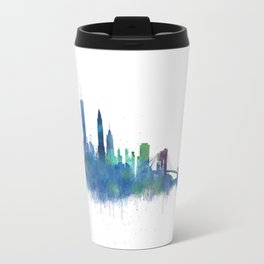NY New York City Skyline NYC Watercolor art Travel Mug