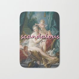SCANDALOUS OIL PAINTING ROCCOCO Bath Mat