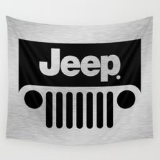 Jeep Steel Chrome Wall Tapestry