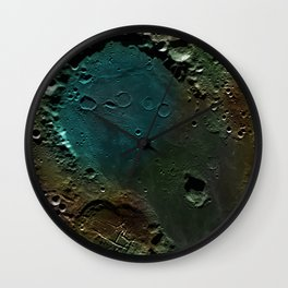 The Dark Side Of The Moon color (Mare Moscoviense) Wall Clock