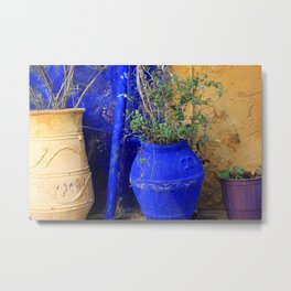 Three Flowerpots Metal Print