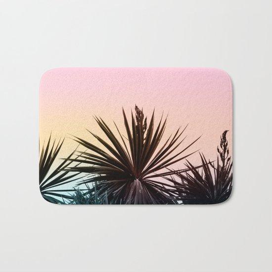 Sunset tropical palms Bath Mat
