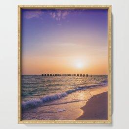 Gasparilla Island Sunset Serving Tray
