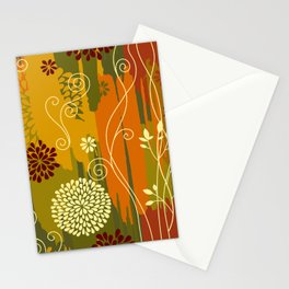 Boho Floral Pattern Stationery Cards