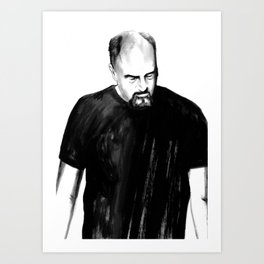 DARK COMEDIANS: Louis C.K. Art Print