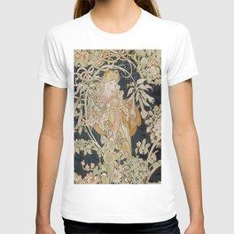 1898 - 1900 Femme a Marguerite by Alphonse Mucha T-shirt