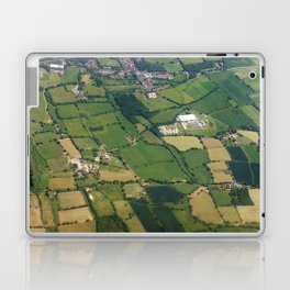 aerial view fields british countryside map pattern Laptop & iPad Skin