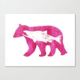 Salmon Bear Canvas Print
