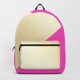 Modern hot pink & gold color block Backpack