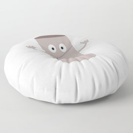 Empty Toilet paper roll with face Floor Pillow