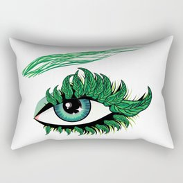 Spring eye with green leaves Rectangular Pillow